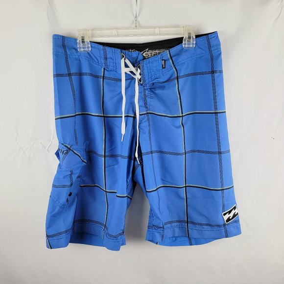 Billabong PlatinumX Mens Swim Trunks Sz 34 Blue